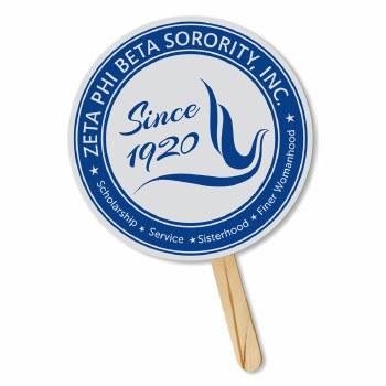 Zeta Phi Beta Sorority Crest Hand Fan