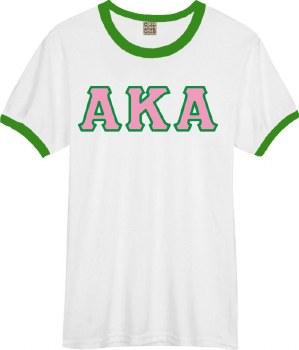 Alpha Kappa Alpha Lettered Ringer Tee