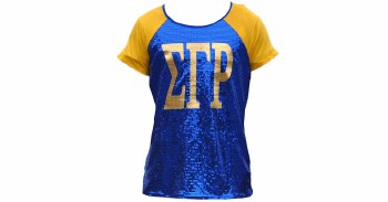 Sigma Gamma Rho Sequin Letter Shirt