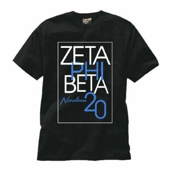 Zeta Phi Beta Staggered Box Tee