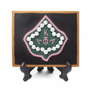 Alpha Kappa Alpha Mascot Table Plaque