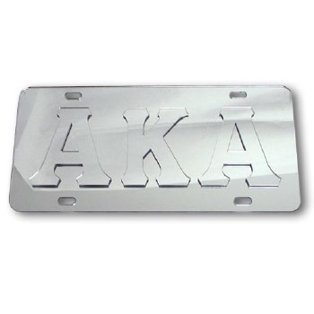 Alpha Kappa Alpha Platinum Series Car Tag