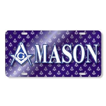 Mason Printed Crest Car Tag