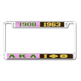 Alpha Kappa Alpha Split Car Tag Frame