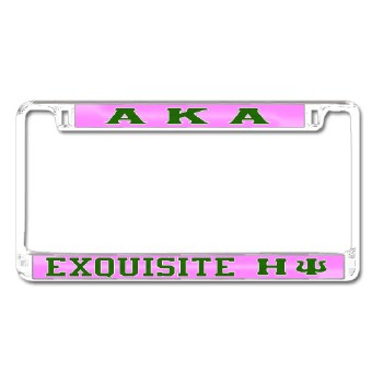 Alpha Kappa Alpha Exquisite HY Chapter Car Tag Frame (Eta Psi Chapter)