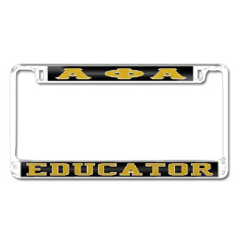 Alpha Phi Alpha Educator Car Tag Frame