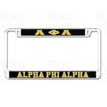 Alpha Phi Alpha Mirror Car Tag Frame