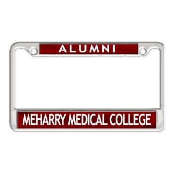 MeHarry Medical College Alumni Chrome Car Tag Frame