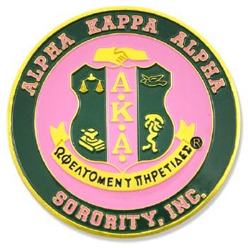 Alpha Kappa Alpha Stamped Crest Car Emblem
