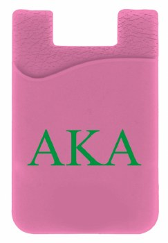 Alpha Kappa Alpha Silicone Card Holder