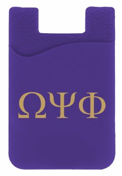 Omega Psi Phi Silicone Card Holder