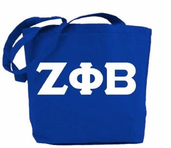 Zeta Phi Beta Jumbo Tote Bag