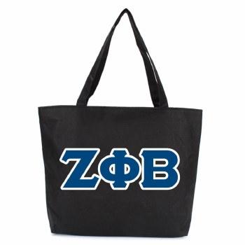 Zeta Phi Beta Zipper Tote Bag