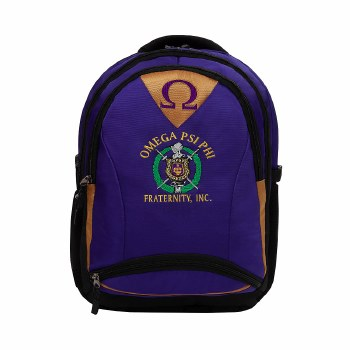 Omega Psi Phi Embroidered Commuter Backpack