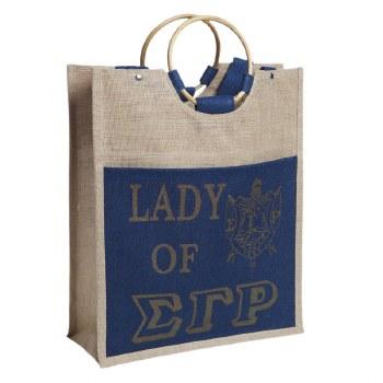 Sigma Gamma Rho Lady Jute Bag