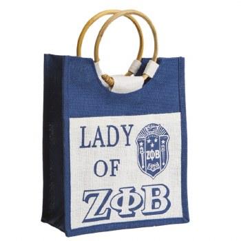 Zeta Phi Beta Lady Jute Bag