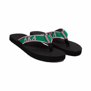 Alpha Kappa Alpha Beach Flip Flops