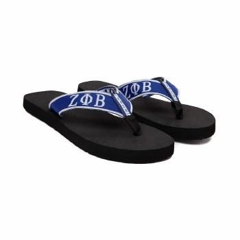 Zeta Phi Beta Beach Flip Flops