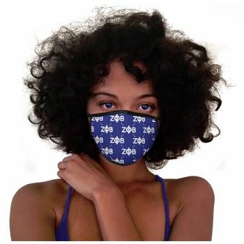 Zeta Phi Beta Organization Letters Face Mask
