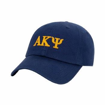 Alpha Kappa Psi Felt Letters Dad Hat