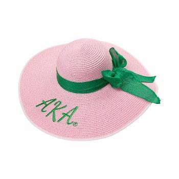Alpha Kappa Alpha Floppy Beach Hat