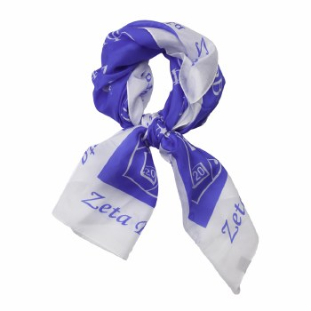 Zeta Phi Beta Crest All Over Scarf