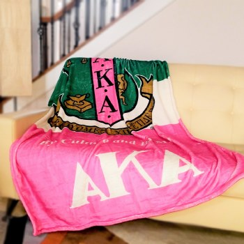 Alpha Kappa Alpha Super Soft Blanket