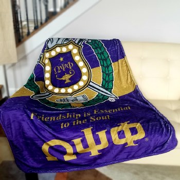 Omega Psi Phi Super Soft Blanket