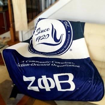 Zeta Phi Beta Super Soft Blanket