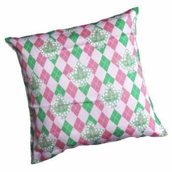 AKA Argyle Mascot Print Pillow