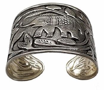 Delta Sigma Theta Elephant Cuff Bracelet