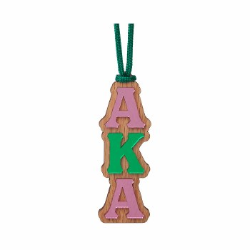Alpha Kappa Alpha Mirror Letter Tiki