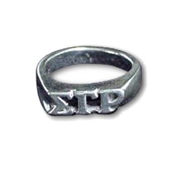 Sigma Gamma Rho Sterling Silver Ring