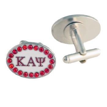 Kappa Alpha Psi Rhinestone Cuff Links