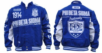 Phi Beta Sigma Twill Racer Jacket