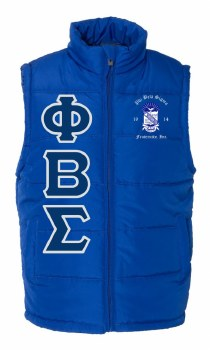 Phi Beta Sigma Bubble Vest
