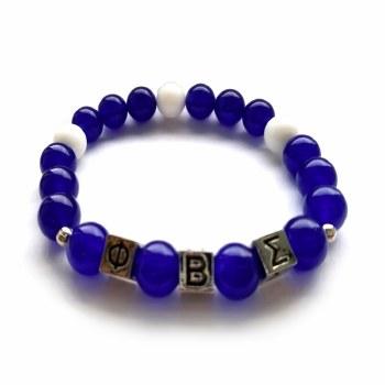 Phi Beta Sigma Beaded Bracelet