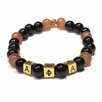 Alpha Phi Alpha Mini Glass Bead Bracelet