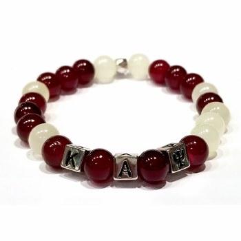 Kappa Alpha Psi Mini Glass Bead Bracelet