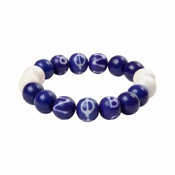Zeta Phi Beta Wooden Beads Bracelet
