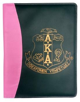 Alpha Kappa Alpha Two Tone Pad Holder