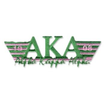 Alpha Kappa Alpha Greek Wings Patch
