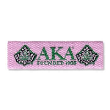 Alpha Kappa Alpha Woven Label Patch