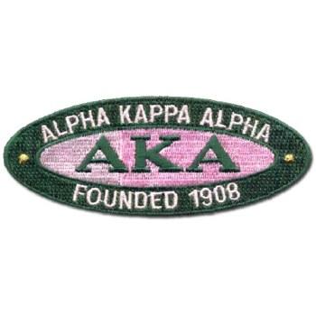 Alpha Kappa Alpha Oval Founded Patch