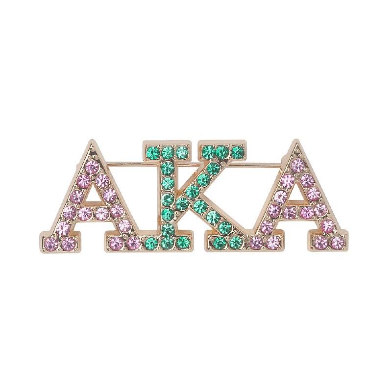 Alpha kappa alpha sorority aka wood letters full bling