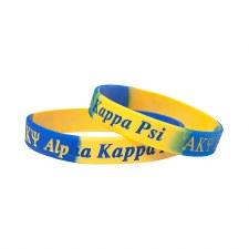 Alpha Kappa Psi Two-Toned Silicone Wristband