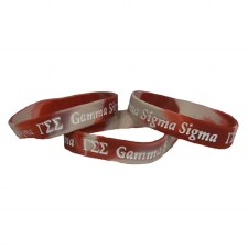 Gamma Sigma SigmaTwo-Tone Silicone Wristband