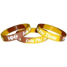 Iota Phi Theta Two-Tone Silicone Wristband