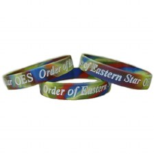 Order of the Eastern Star Two-Tone Silicone Wristband