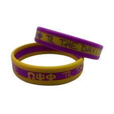 Omega Psi Phi 3 Layer Wristband